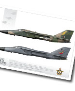 Art Prints: F-111 Retirement Series A3 size prints featuring highly detail profile renderings of the RAAF F-111. For more information see the NEWS page.