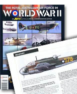 The Royal Australian Air Force in World War II  Aero Australia commemorative edition (Chevron Publishing Group). Writer/Editor Stewart Wilson. Contribution: 20 profile artworks.